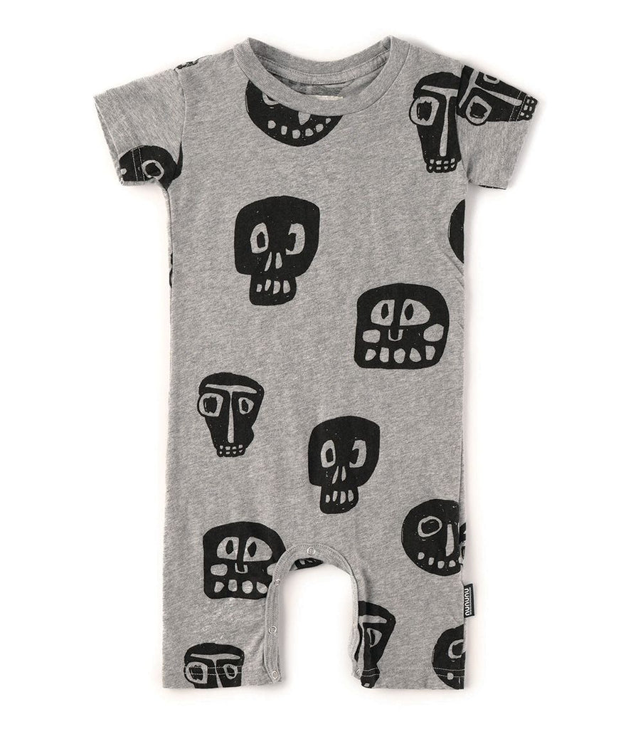 nununu rowdy masks playsuit heather grey
