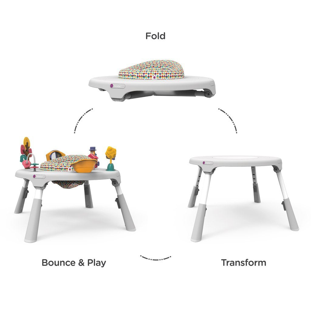 Portaplay Convertible Activity Centre + Two Stools - Wonderland Adventures