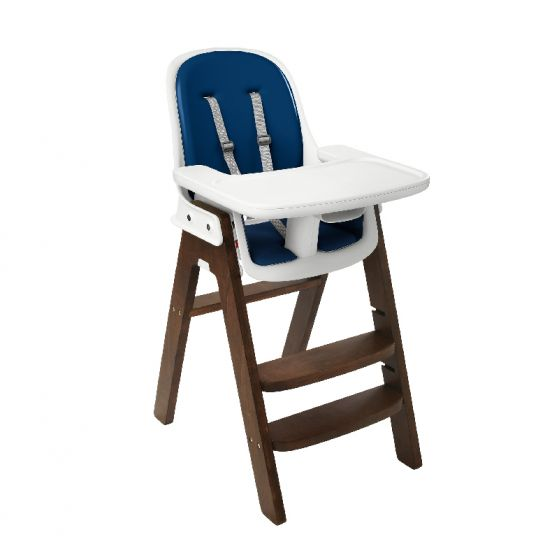 oxo tot sprout high chair walnut base navy cushion