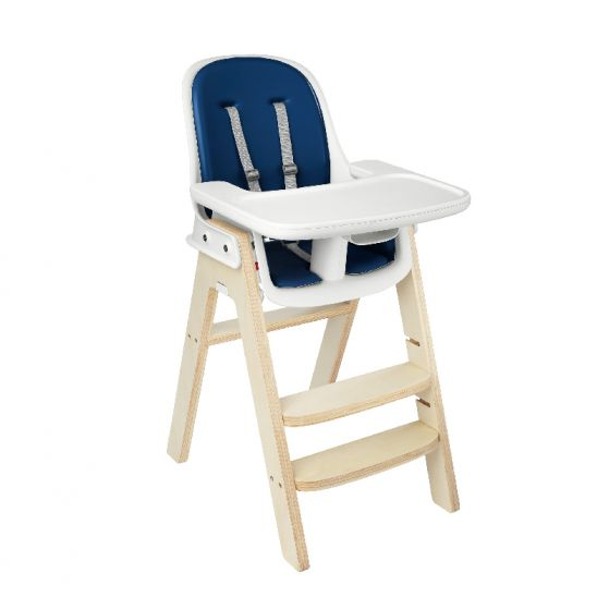 oxo tot sprout high chair birch base navy cushion