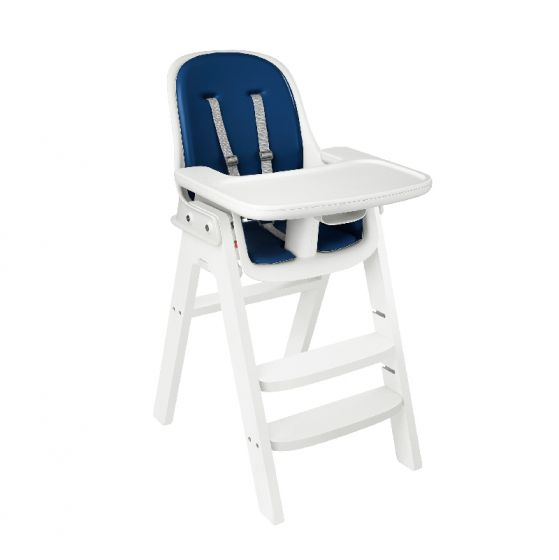 oxo tot sprout high chair white base navy cushion