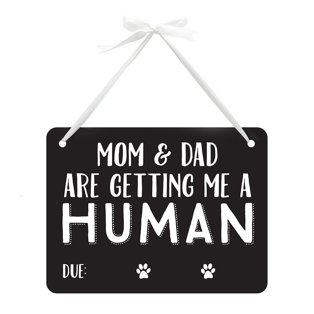 pearhead pet's pregnancy announcement chalkboard