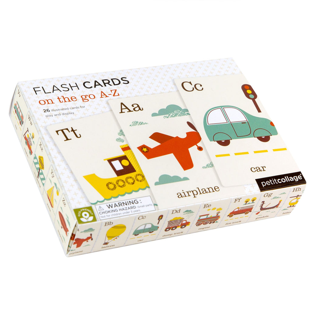 petit collage on the go a-z flash cards