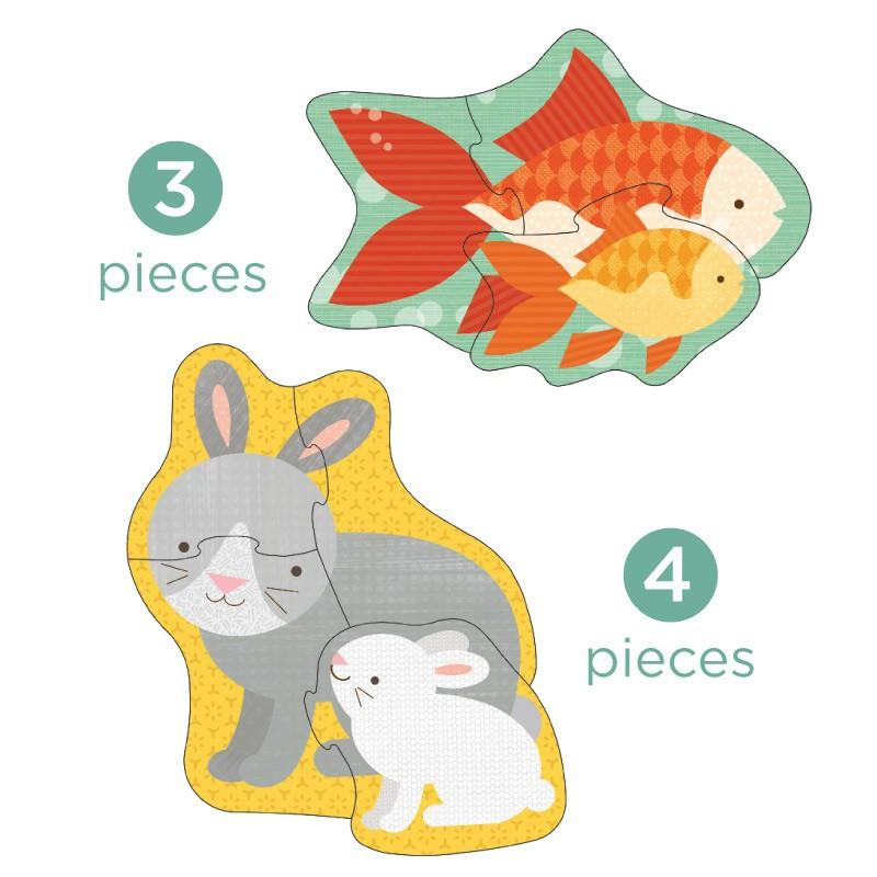 petit collage pet babies beginner puzzle
