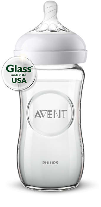 Natural Glass Bottle - 8 oz