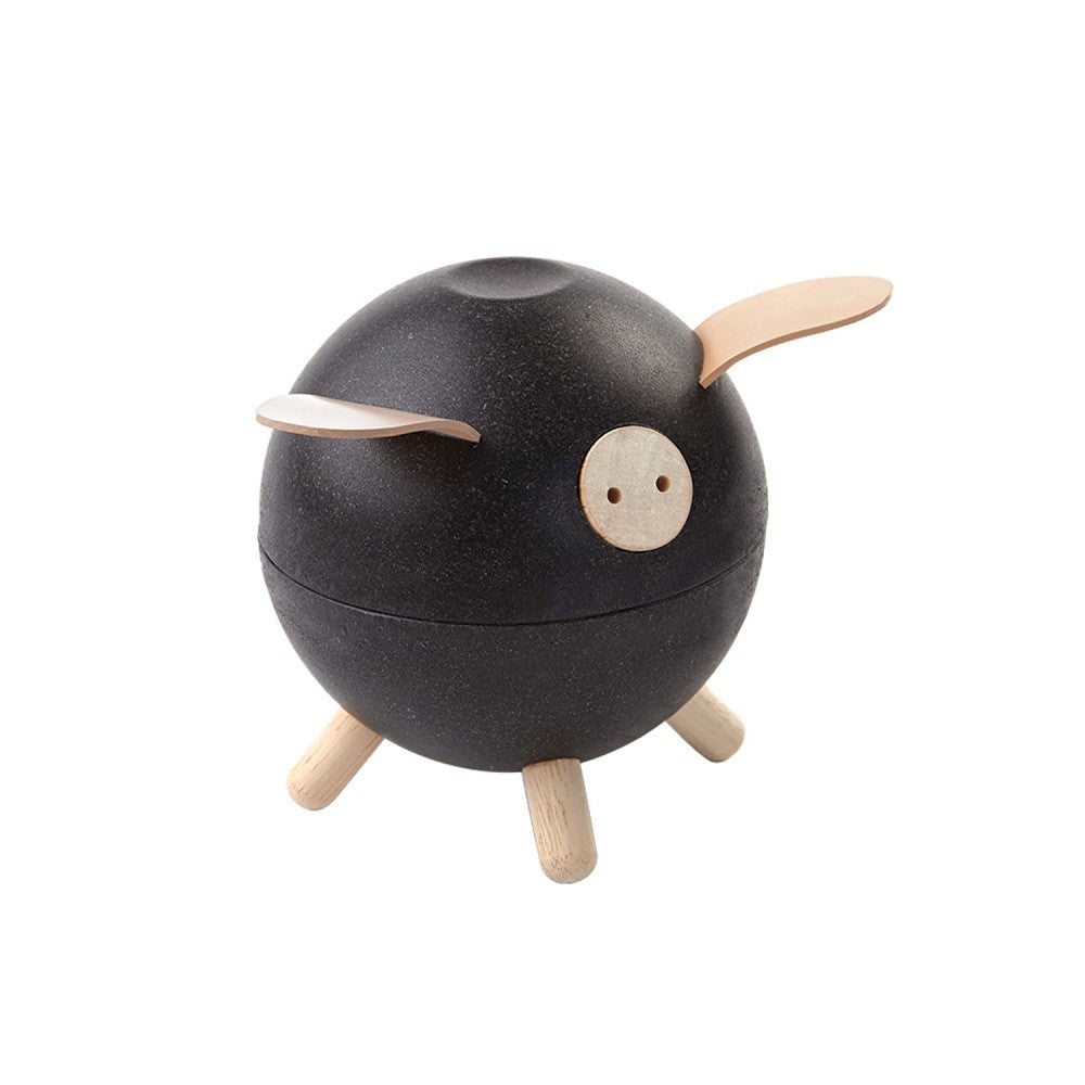 Wooden Piggy Bank (Black)
