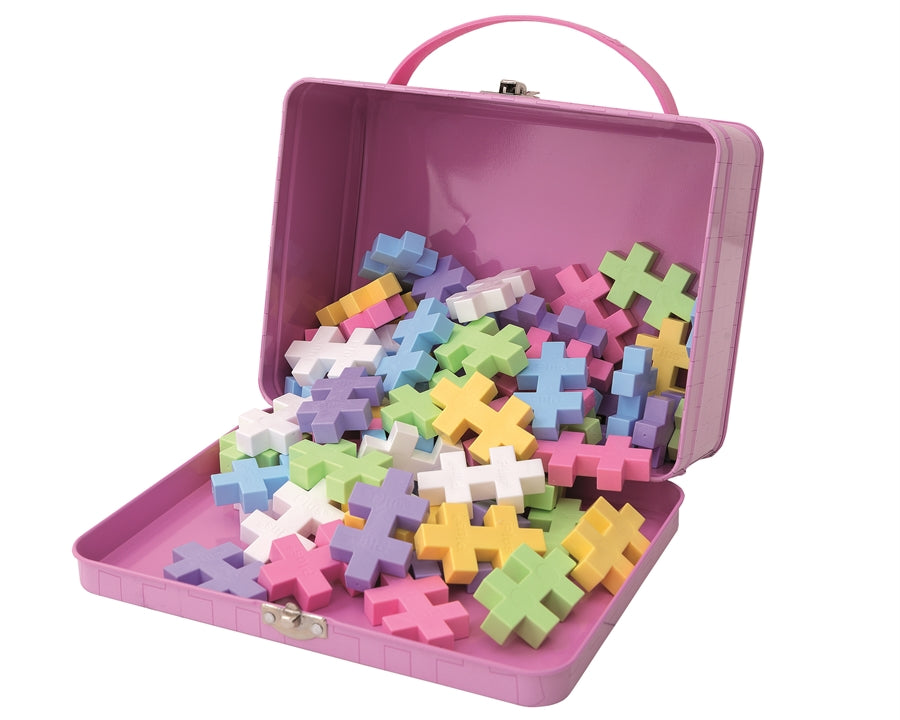 Big Pastel Building Set - Metal Suitcase (70pcs)
