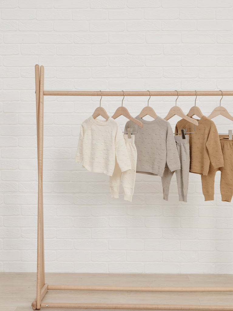 Bailey Knit Sweater & Pant Set - Ivory