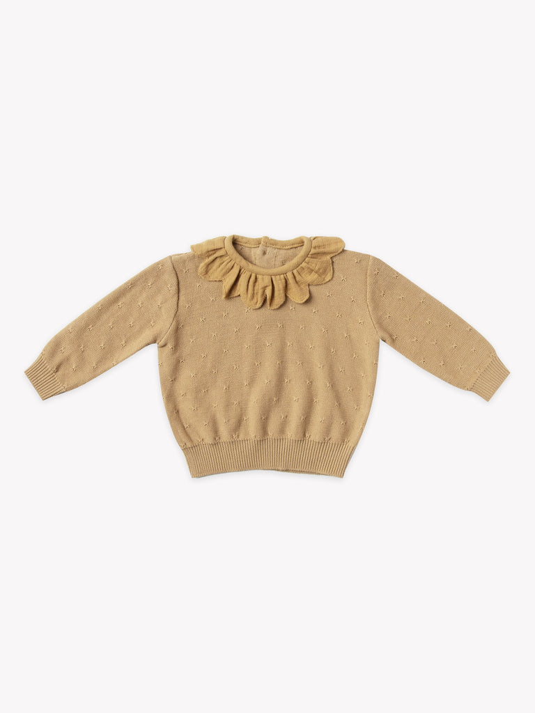 Petal Knit Sweater & Bloomer Set - Honey