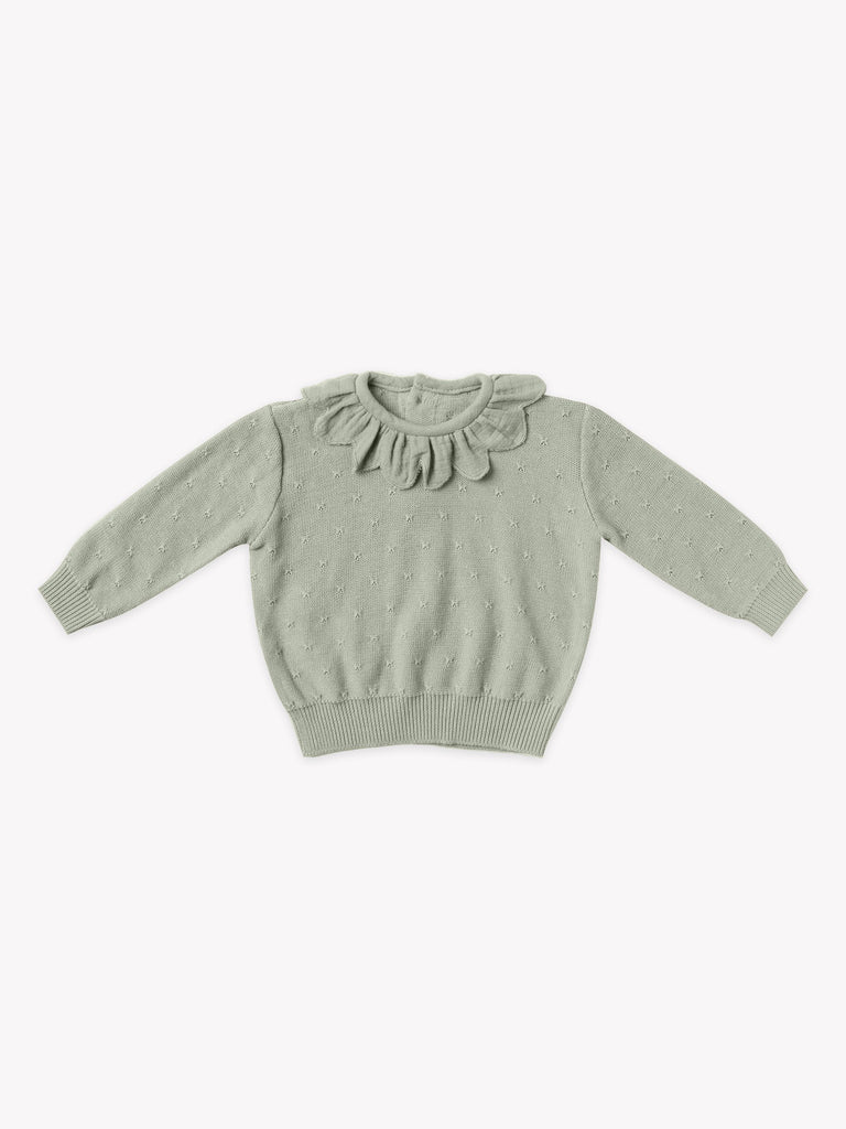Petal Knit Sweater & Bloomer Set - Sage