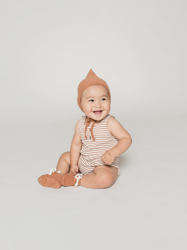 quincy mae pixie baby bonnet rust