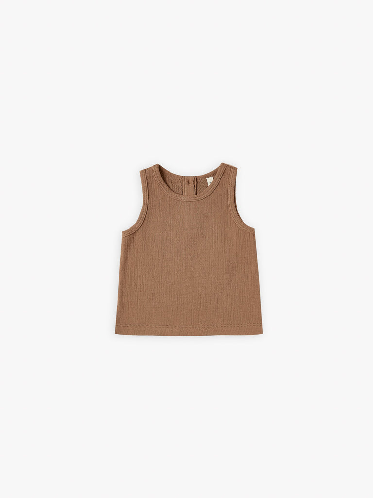 quincy mae woven tank rust