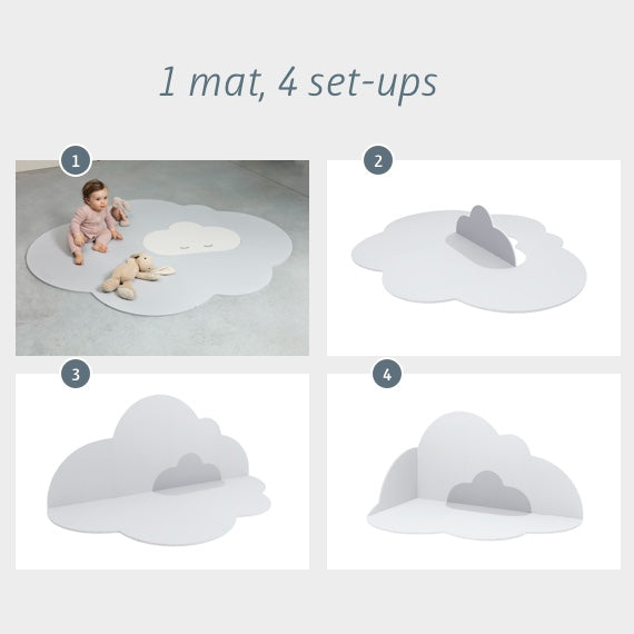 Head in the Clouds Playmat (Large) - Pearl Grey
