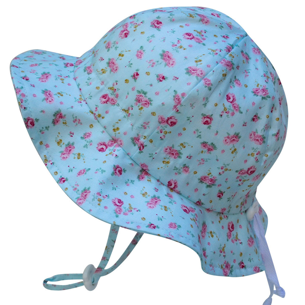 Grow With Me UPF 50+ Cotton Sun Hat - Retro Rose