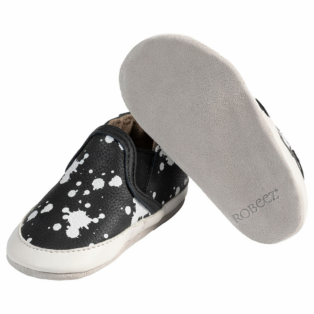 Liam Soft Soles - Black Splatter