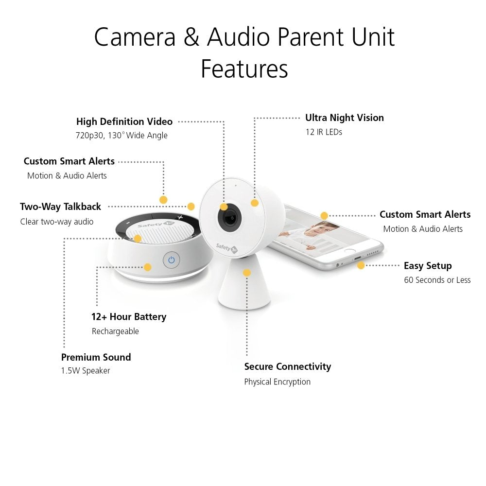 safety 1st hd wifi baby monitor and audio parent unit