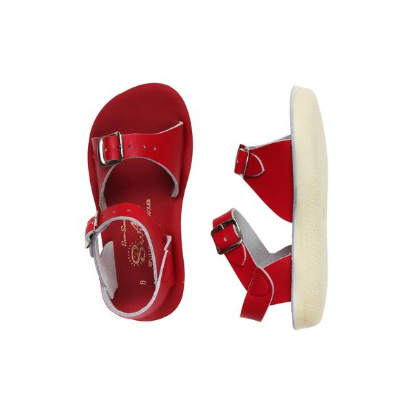 saltwater surfer sandals kids red