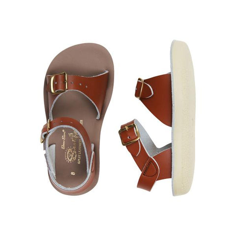 saltwater surfer sandals kids tan