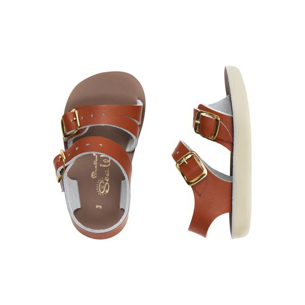 saltwater sea wees sandals tan