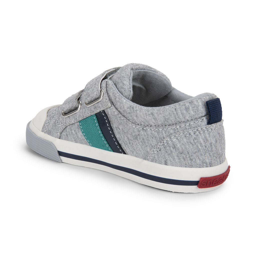 see kai run russell sneakers grey jersey navy