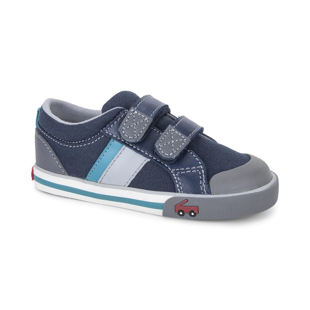 see kai run sneakers russell navy teal