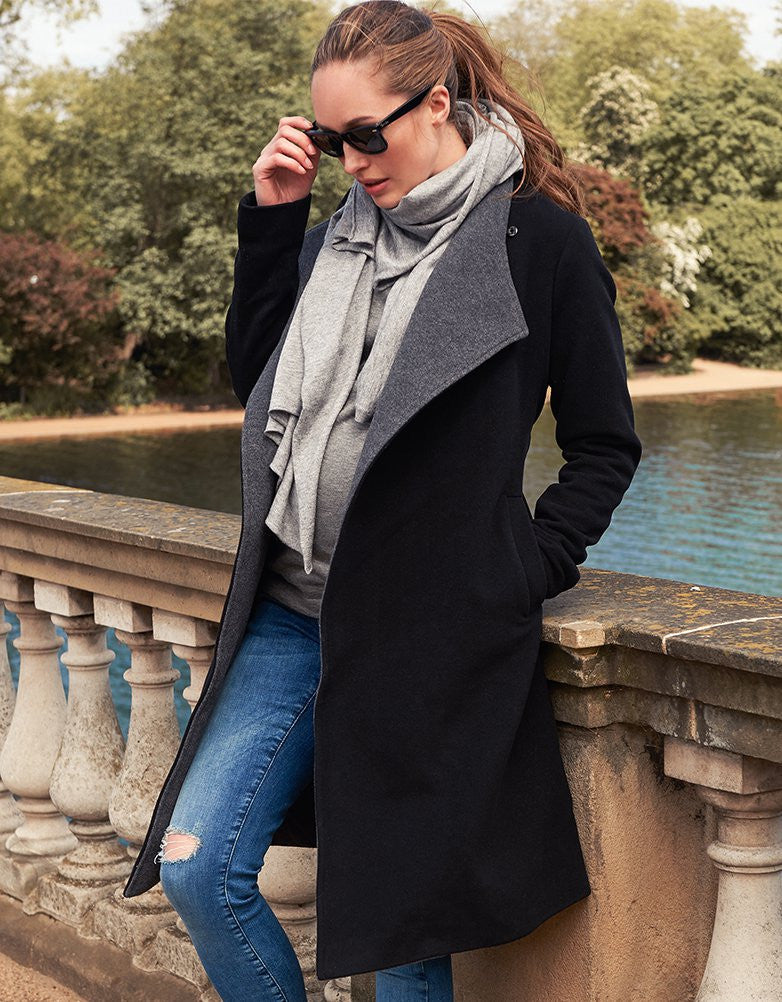 Donatella Wool & Cashmere Two-Toned Coat