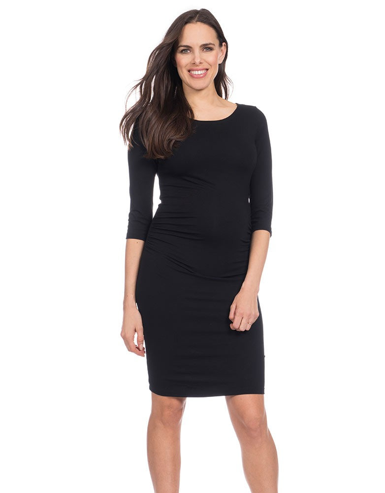 seraphine tessa black maternity shift dress