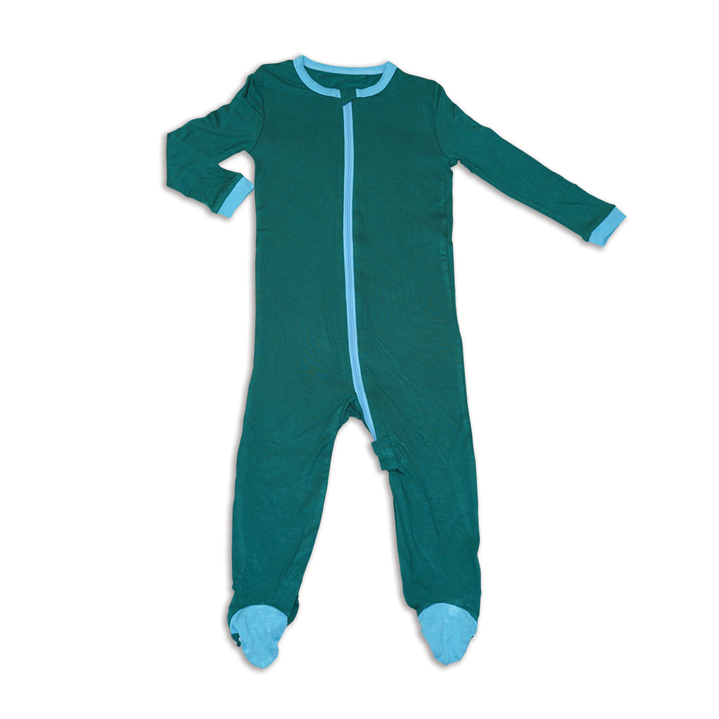 Bamboo Footed Onesie - Sherwood