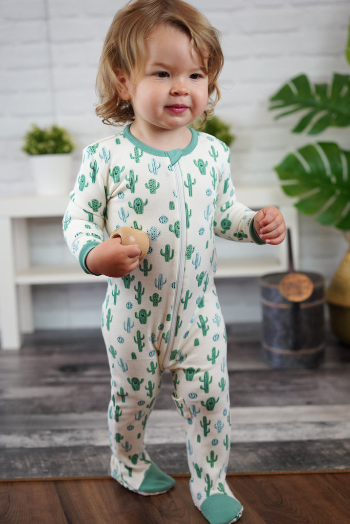 Organic Cotton Footed Onesie - Lookin' Sharp