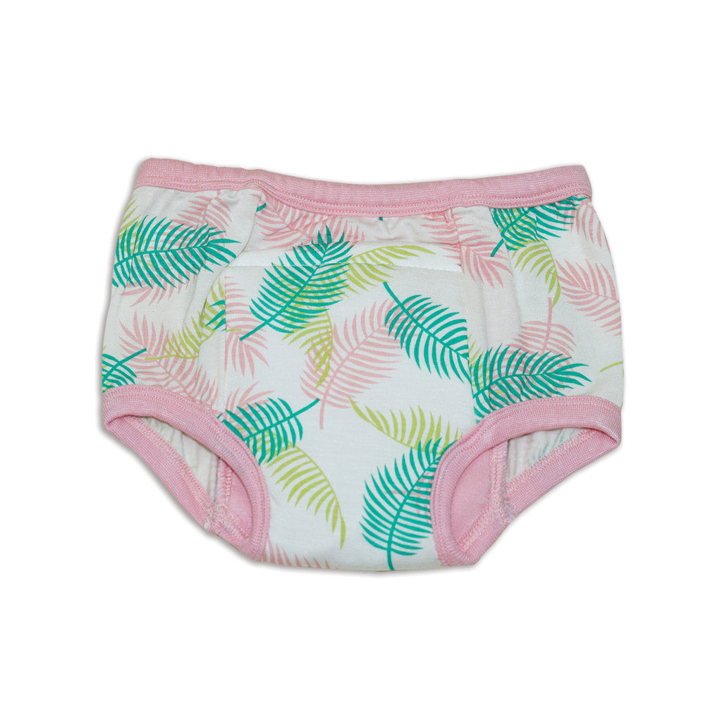 silkberry baby bamboo reusable training pants tropical palm