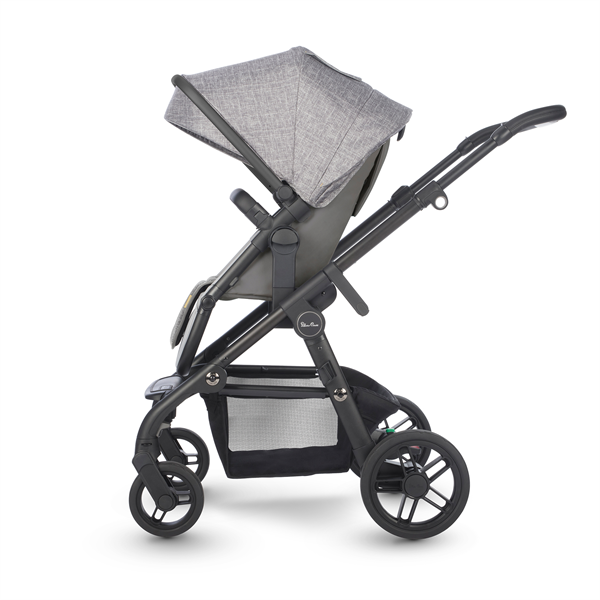 silver cross coast double stroller limestone side