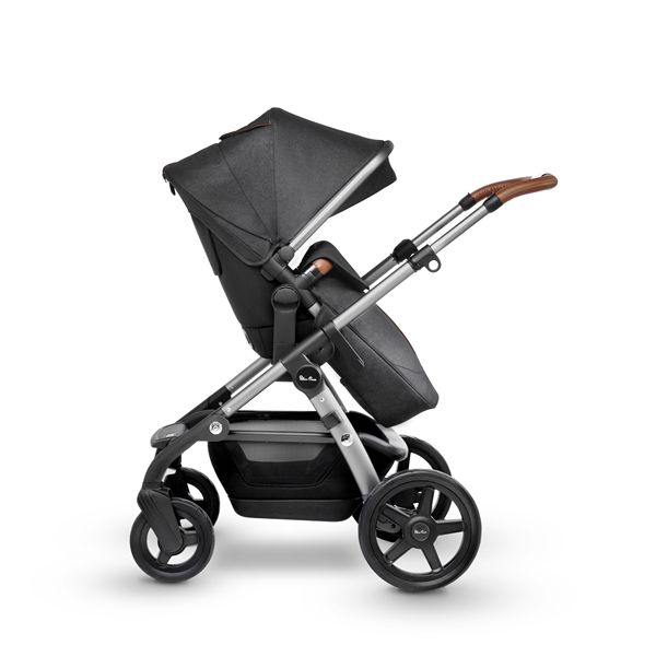 silver cross wave double stroller granite side