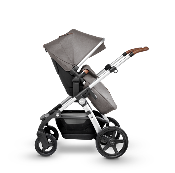 silver cross wave double stroller sable side