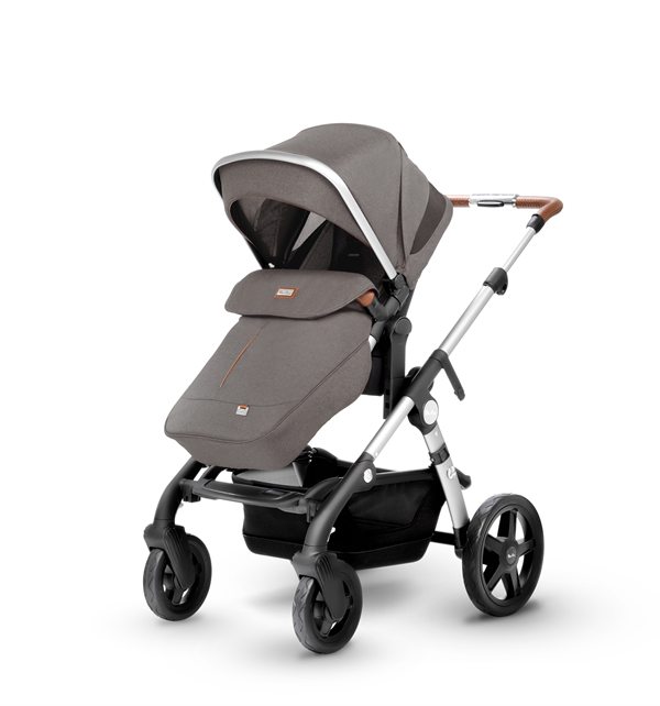 silver cross wave double stroller sable  sunshade up