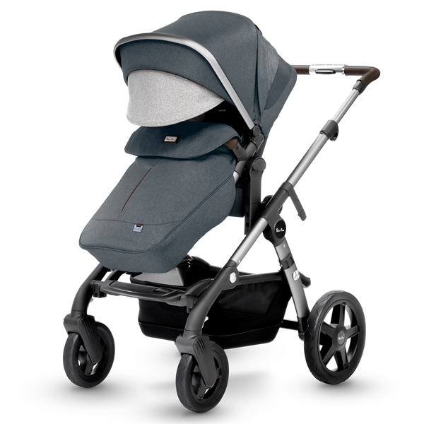 silver cross wave double stroller slate