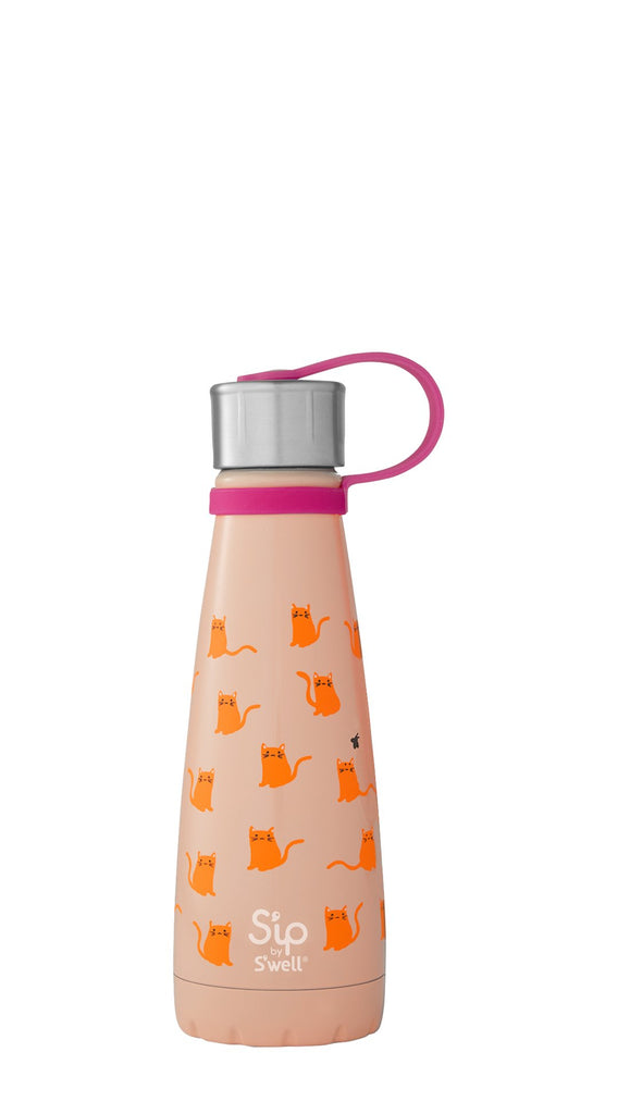 s'ip by s'well insulated stainless steel bottle 10 oz 295 ml cool cats