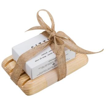 Natural Soap Bar & Pine Dish Gift Set