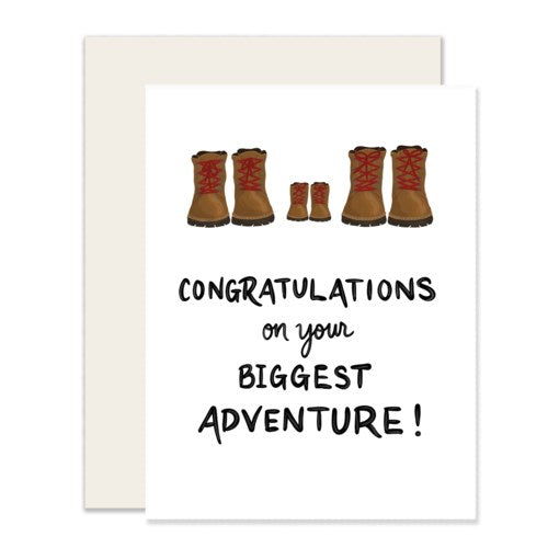 Congratulations Biggest Adventure Card