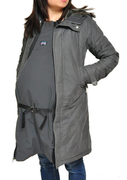 bridge the bump coat panel maternity babywearing