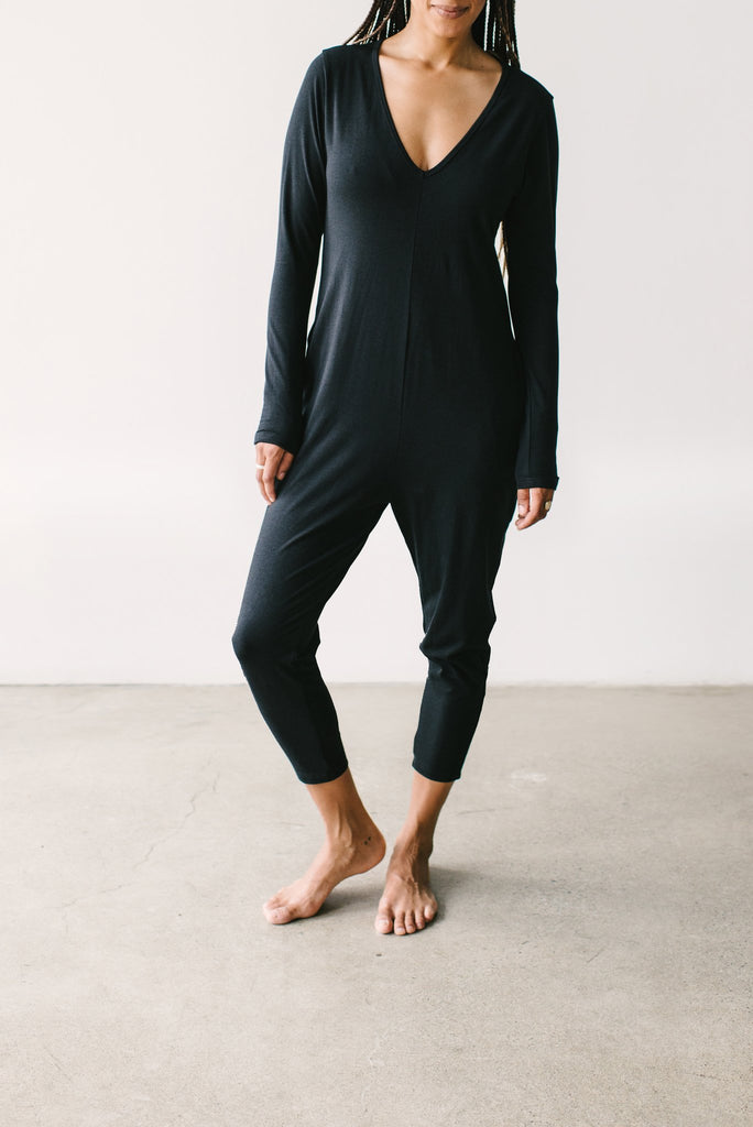 The Friday Romper - Midnight Black