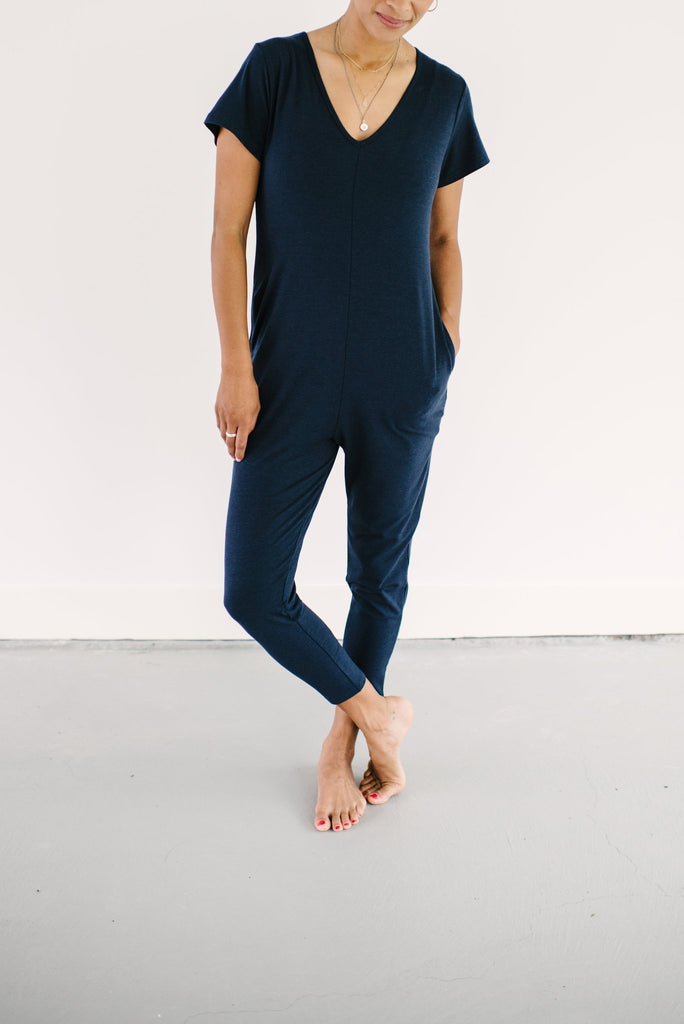 The Sunday Romper - Naturally Navy