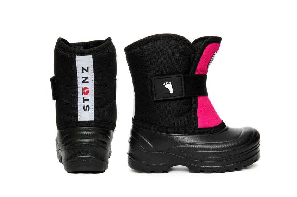 Scout Winter Boots - Black/Pink Reflective