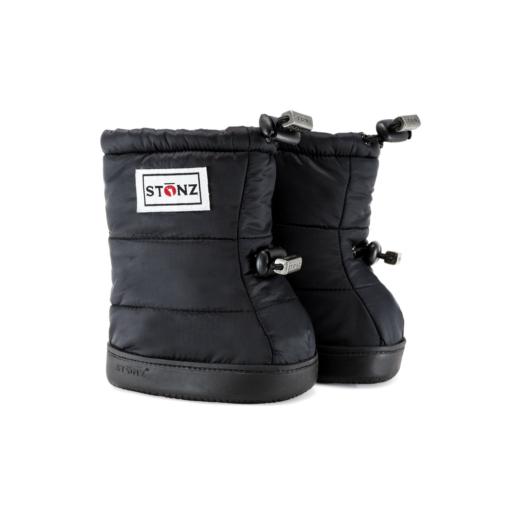 Toddler Puffer Booties - Black