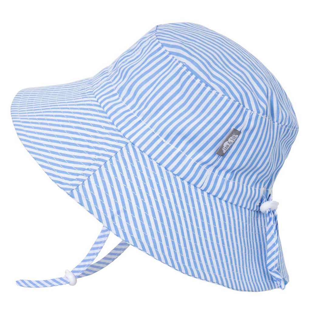 twinklebelle cotton bucket sun hat blue stripes