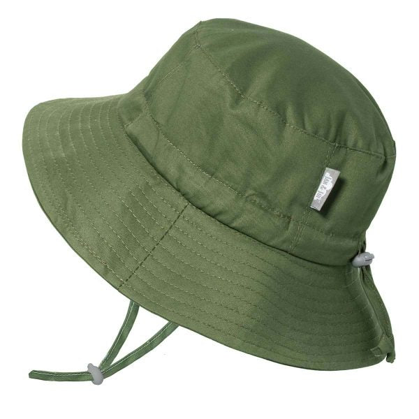 twinklebelle grow with me cotton bucket sun hat green