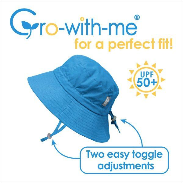 Grow With Me UPF 50+ Cotton Sun Hat - Anchor