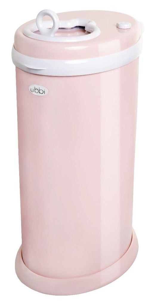 ubbi stainless steel diaper pail blush pink