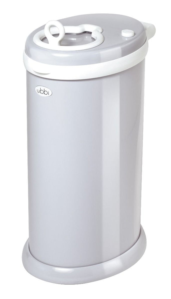 ubbi stainless steel diaper pail grey