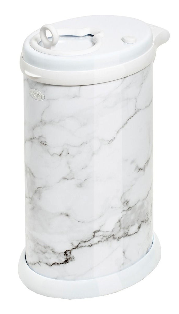 ubbi stainless steel diaper pail marble