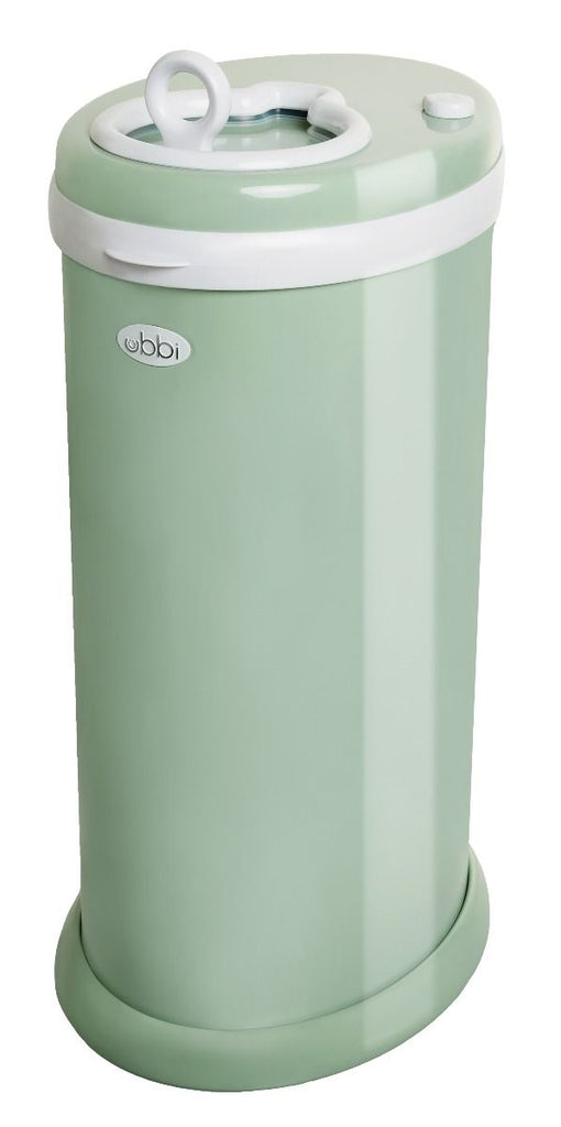 ubbi stainless steel diaper pail sage